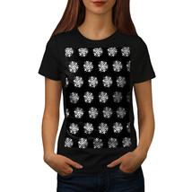 Snowflake Cute Christmas Shirt Dark Night Women T-shirt - $12.99