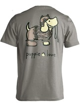 Puppie Love Rescue Dog Adult Unisex Short Sleeve Graphic T-Shirt, Army Pup