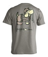 Puppie Love Rescue Dog Adult Unisex Short Sleeve Graphic T-Shirt, Army Pup - $19.99