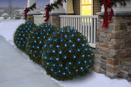 HOLIDAY TIME 66-192 150CT LED BLUE NET LIGHTS 6' X 4' GREEN WIRE - NEW I... - $21.71