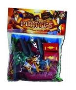 Pirate 37 piece Playset: 54mm Pirate Figures, Ship, Cannon, Raft, Canoe,... - $24.74