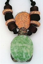 Jasper Tree Agate Gemstone Turtle Pendant 13 - $10.98