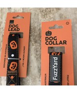 Halloween Fuzzy Yard Dog Leash & Collar Jack O Lanterns Spooky Pet Suppl... - $24.99