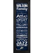 "Personalized Utah Jazz ""Family Cheer"" 24 x 8 Framed Print - $39.95"