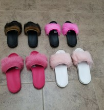 New Ugg Royale Slip On Sandal Slides Real Lamb Fur Toscana Shoe Black Brown Pink - $64.99