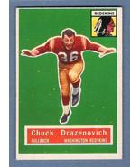 VINTAGE NFL 1956 TOPPS #37 CHUCK DRAZENOVICH SP(MK) VG-EX - $13.28
