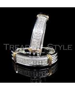 Mens Ladies .15CT Real Diamond White Gold Fin H... - $178.19