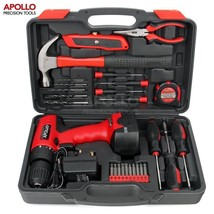 Apollo 26pc Household Cordless Power Drill Tool Kit Including 12V Drill ... - $84.43