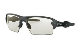 Oakley Flak 2.0 Xl Sunglasses OO9188-16 Steel Color W/ Clear Black Photochromic - $150.75