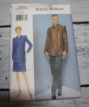 Vogue Woman Sewing Pattern 9775 Misses Size 6-10 Jacket Pants Skirt - $7.84