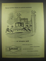 1957 Solex Carburettor Advertisement - Some further hints on petrol economy - $14.99