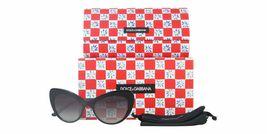 NEW DOLCE & GABBANA MAMBO Sunglasses DG4307B 501/8G Black Gold Grey Gradient image 4