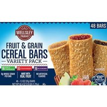 Wellsley Farms Fruit & Grain Cereal Bars Variety Pack, 48 ct. x2 AS - $44.02