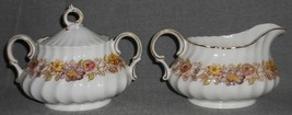 ROYAL DOULTON Bone China MAYFAIR PATTERN Creamer and Sugar Set MADE IN E... - $69.29