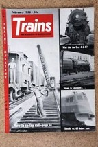 Trains  The Magazine of Railroading February 1956 - $4.99