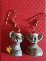 xmas sale xmas mice earrings, ideal gift novelty earrings new vintage