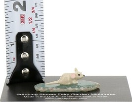 Stepping Stones Fairy Garden Miniature Mouse on Sliced Quartz Base #2712 image 2