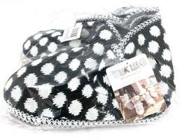 MUK LUKS Ebony & White Polka Dot Slipper Boots New with Tags Women's L 9-10 - $29.00