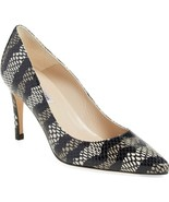 L.k. Bennett Floret Pump Snake Print Leather Shoe Heel 38.5 Pointy Toe - $135.05