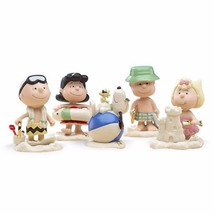 Lenox Peanuts Summer Vacation Figurines Beach Party Charlie Brown Snoopy... - $127.02