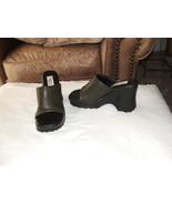 new  retro AMERICAN EAGLE dark olive  slide shoes size 5.5 m - $21.29