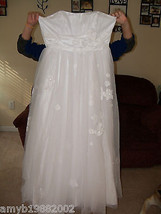 David's Bridal Strapless Tulle Ball Gown w/Floral Detail Size 14 Women's... - $300.00