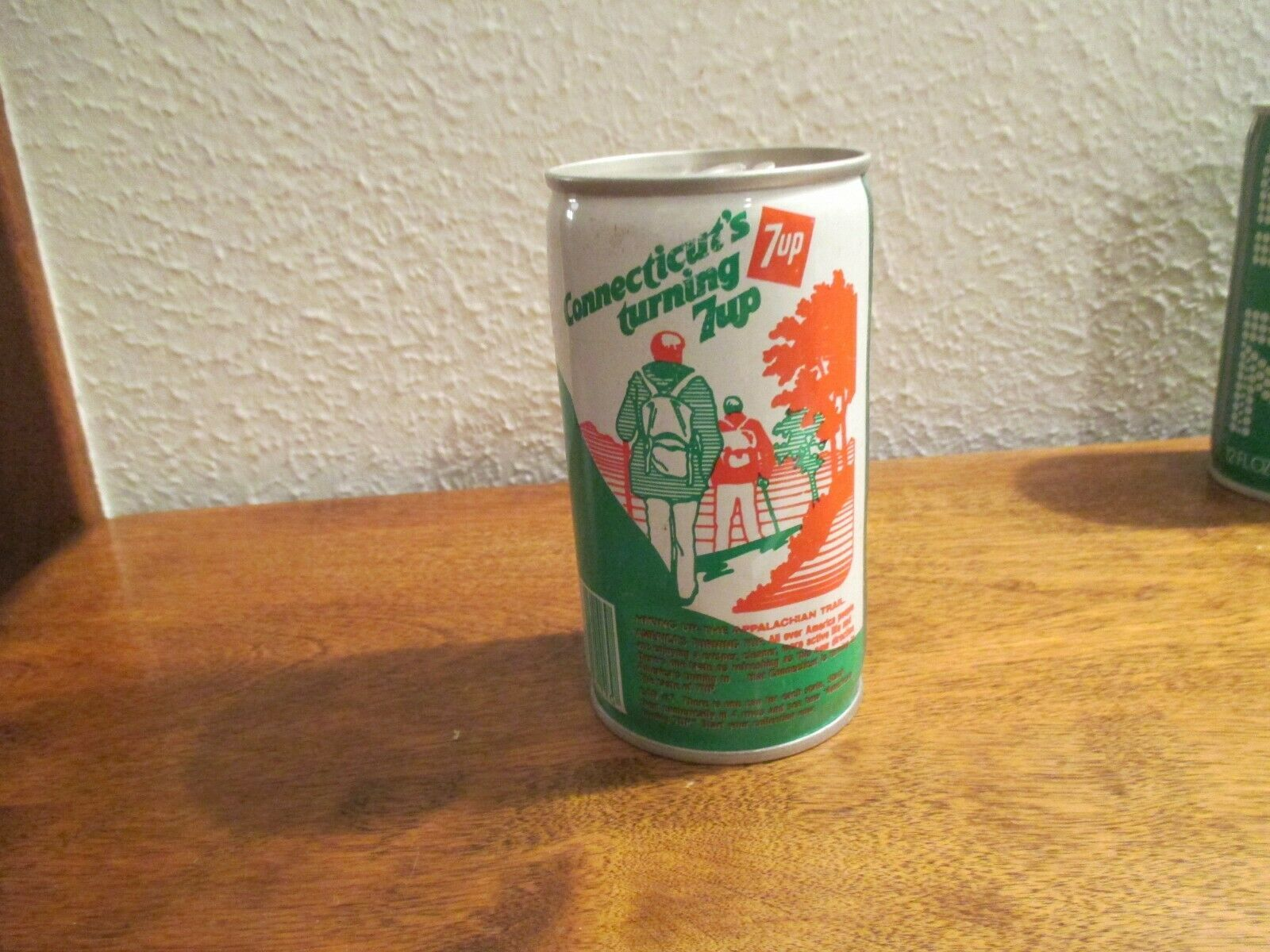 Primary image for Connecticut CT Turning 7up vintage pop soda metal can Hiking Appalachian trail