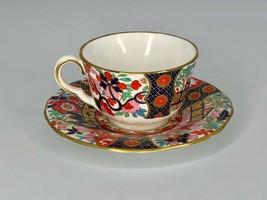 Royal Worcester Miniature Cup & Saucer - Bold Imari 1993 - $32.51