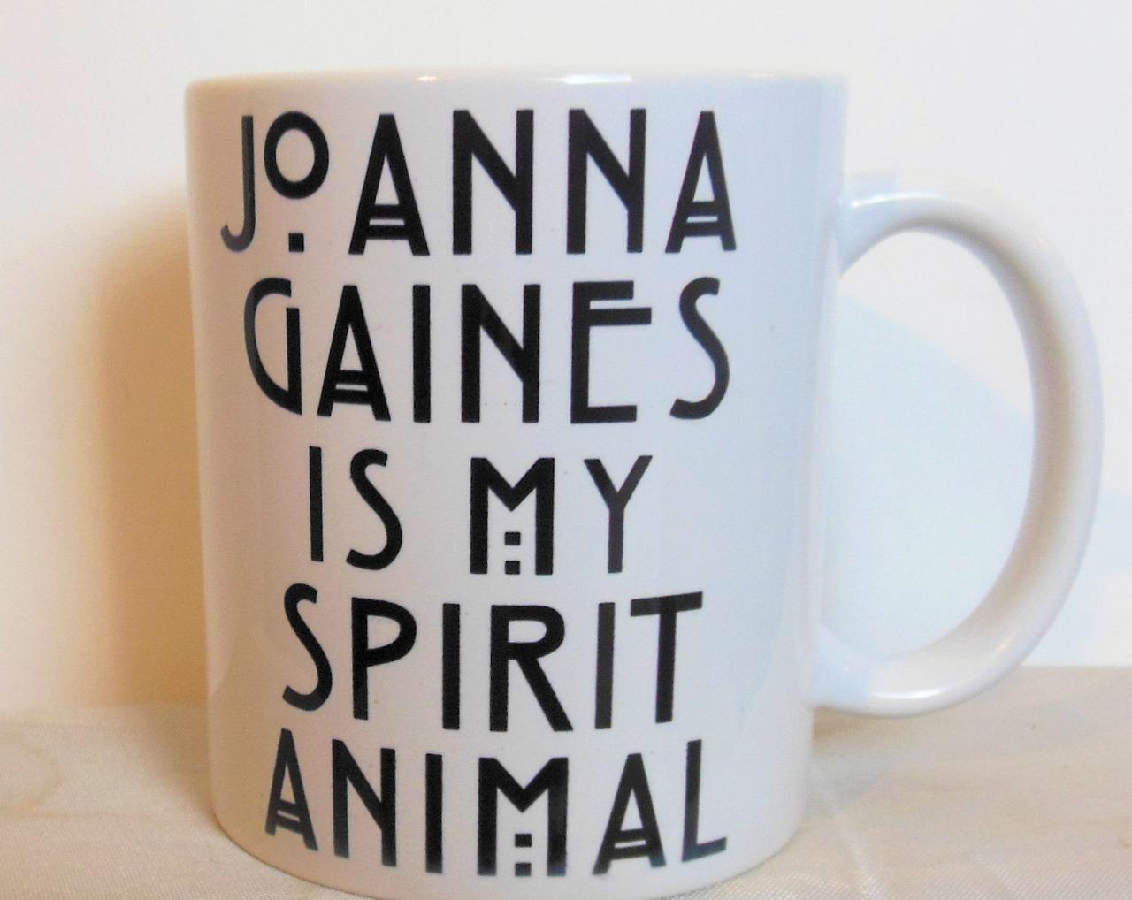 Joanna Gaines is My Spirit Animal Mug Black and White 3.75""