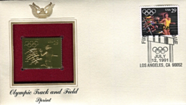 OLYMPIC TRACK & FIELD - Sprint  FIRST DAY OF ISSUE STAMP: Jul. 12, 1991 - $8.50
