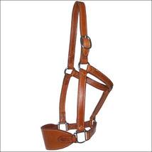 Hilason Western Horse Tack Harness Leather Halter Chestnut W/ Ss Hardware U-2169 - $40.06