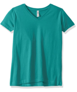 AquaGuard Women's Combed Ringspun V-Neck T-Shirt-3 Pack in Jade, Small NWT - $13.36