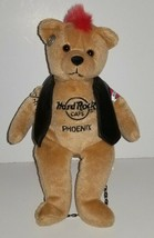 Hard Rock Cafe 2008 Biker PHOENIX Plush Teddy Bear Red Mohawk - $6.65