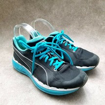 Puma Womens Faas 500 185161-11 Sz 10 M Black Blue Running Shoes - $34.99