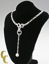 Cartier Diamond and Pearl Agrafe 18k White Gold Rare Vintage Necklace/ Pendant - $64,133.50