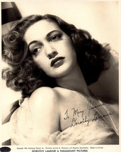 Dorothy Lamour Vintage Autographed Autograph Signed Hollywood Film Movie... - $149.99