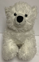 "Build A Bear BABW Playful Shaggy Polar Bear 14"" Long Plush Stuffed Animal - $19.37"
