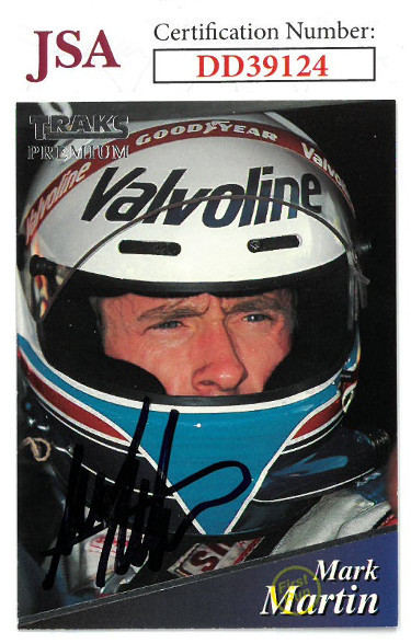 Primary image for Mark Martin signed NASCAR 1994 Traks Premium Racing Trading Card #113- JSA Holog