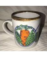 Kiln Craft Dog Flower Mug White Ceramic Retro Straffordshire Vegetable C... - $15.83