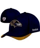 Baltimore Ravens NFL Reebok Baseball Sidelines Flexfit Hat Cap Licensed ... - $17.63