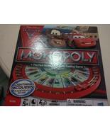 Disney Pixar Cars 2 Monopoly Lightning McQueen Racetrack BoardGame 2011 ... - $9.90