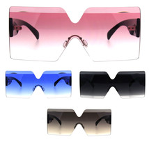 Futurism Rectangular Robotic Funk Disco Gradient Sunglasses - $12.95