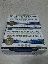 MighTeaFlow Dry Mouth Chewing Gum x 8 (10 Piece Packs)Spearmint Flavor E... - $24.30