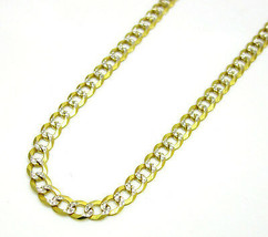 "5mm 18-36"" Mens Unique 14K YG Miami Diamond Cut Necklace Cuban Curb Chain - $460.21"