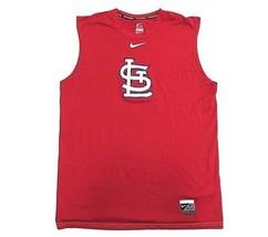 NIKE MLB St. Louis Cardinals Logo Red Graphic Tank Top Men's Size Medium - $29.65