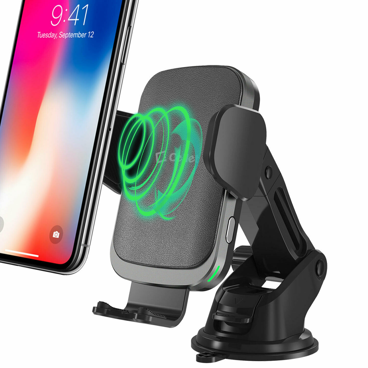 Cellet QI Wireless Fast Charge Phone Mount Dashboard Air Vent for iPhone Note 10