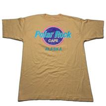 Vintage 90s Polar Rock Cafe Alaska Orange Neon Single Stitch T Shirt Siz... - £23.39 GBP