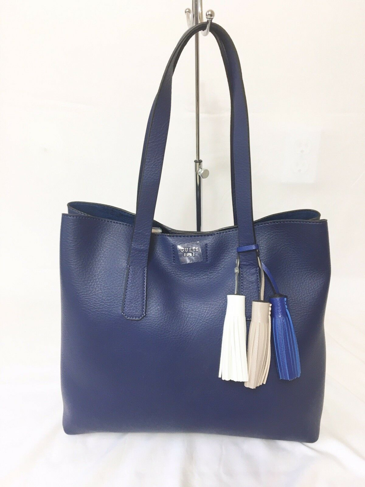 Primary image for Guess Trudy Large Tote BlueGold New