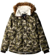 Limited Too Girls' Little Sueded Microfiber Heavy Anorak W/Sherpa, Camof... - $35.04