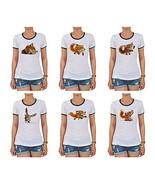 Fox Printed 100% Cotton Short Sleeves T-shirt W... - $15.99